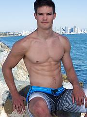 Beefy jock Chance - Gay porn pics at GayStick.com