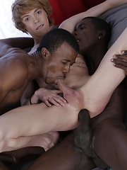 Cute Blond Twink Gets A Double-Penetration Cocktail & A Face-Load Of Black Jizz! - Gay porn pics at GayStick.com