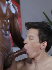 Kris Wallace Takes Every Thick Black Inch Of Barrington Peart's Oversized Ramrod! - Gay porn pics at GayStick.com