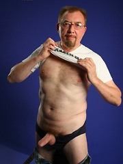 Friendly daddy bear Bill Hagen loves to be on top of any sexy young man - Gay porn pics at GayStick.com