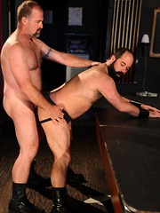At The Lone Star Bar, hot bartender Clint Taylor over hears hungry bottom Scott Cardinal say he needs a good hard fuck - Gay porn pics at GayStick.com