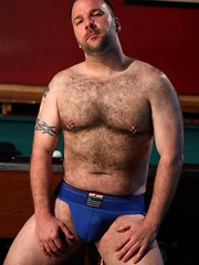 Always on the hunt for hot bear meat, Mark Bishop is ready to serve more than just drinks - Gay porn pics at GayStick.com