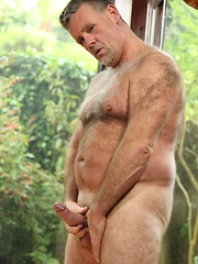After a slumber in the warm sun, sexy and furry Patrick Montana heats up with something on his mind - Gay porn pics at GayStick.com