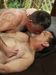 With a sunny afternoon ahead of them, daddy-bears Jack Snow and Patrick Montana know exactly how to spend their time