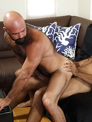 Roman comes ashore to find Marco watching and waiting for piece of his big bear meat - Gay porn pics at GayStick.com