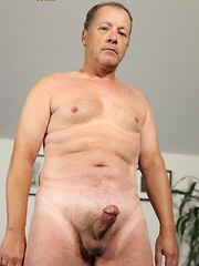 Daddy bear James Martin exudes masculinity through his whole beefy body, round ass and big hard cock - Gay porn pics at GayStick.com