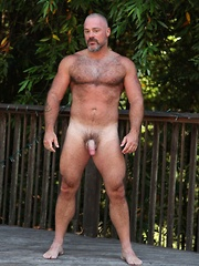 With this Bronson big muscles, tight perfect ass and big hard meat you will want to help him cool off - Gay porn pics at GayStick.com