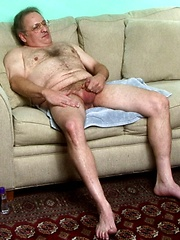 Straight hairy dad David Brian loves to stroke his hard cock for the cameras - Gay porn pics at GayStick.com