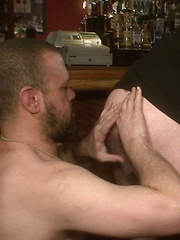 During the LIVE sex party, sexy bears sucked on beers and thick bear meat - Gay porn pics at GayStick.com