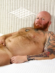 Big ginger bear Rusty G loves to show off for an audience - Gay porn pics at GayStick.com