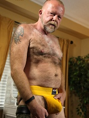 Jim Scott is one hairy bear that is always looking for hot and sweaty fuck - Gay porn pics at GayStick.com