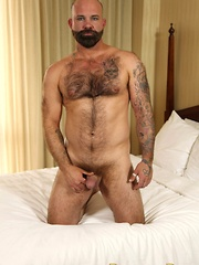 Hunky Oklahoma bear Victor West is a country boy to the core - Gay porn pics at GayStick.com