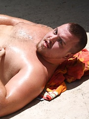 Cute Cub Hunter is one massive man with a handsome face, round belly and hard cock - Gay porn pics at GayStick.com