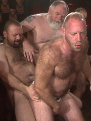 Furry guys are all warmed up with their dicks ready to go in holes every way they can - Gay porn pics at GayStick.com