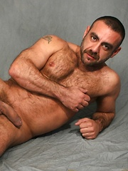 Sexy Spanish bear Manu Maltes will heat you up with his rock hard body and spicy European moves - Gay porn pics at GayStick.com