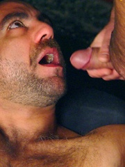 Spanish muscle bears Manu and Edu love to suck each other big uncut cocks - Gay porn pics at GayStick.com