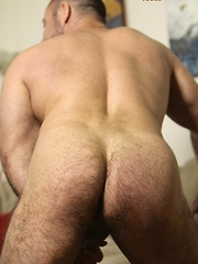 Sexy Rocky LaBarre is the bear at the gym you love to watch sweat drip down his hairy muscular chest - Gay porn pics at GayStick.com