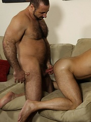 These two hot muscle bears are working each others holes and meats - Gay porn pics at GayStick.com