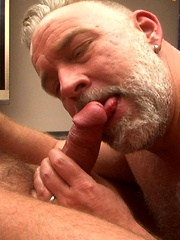 Hot beefy Sundance loves to film men like sexy Brent Cage sucking his thick hard cock - Gay porn pics at GayStick.com