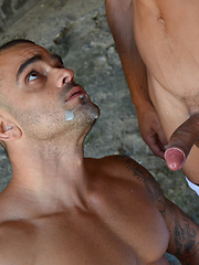 Damien Crosse takes a stop on the highway for some very public action - Gay porn pics at GayStick.com