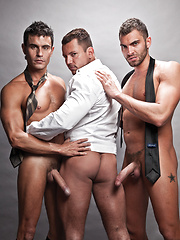 Exclusive Vito and Rafael Invade Angelo's Ass - Gay porn pics at GayStick.com