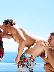 Gabriel Clark, Colby Keller and Dale Cooper - Gay porn pics at GayStick.com