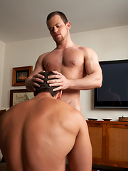 Kurtis pushed Derek down and pulled off his underwear - Gay porn pics at GayStick.com