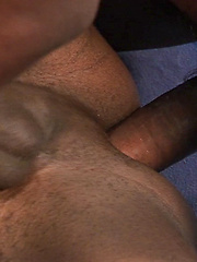Two black dudes get ready for some nasty barebacking pleasure - Gay porn pics at GayStick.com