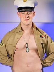 Uniformed Marine Conrad Solo - Gay porn pics at GayStick.com