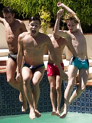 What better way to spend a hot summer afternoon then at a twink pool party - Gay porn pics at GayStick.com