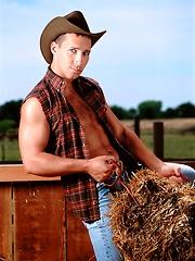 Sexy cowboy posing outdoor - Gay porn pics at GayStick.com