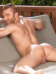 Hairy stud in jockstrap solo posing - Gay porn pics at GayStick.com