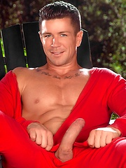 Gay pornstar Trenton Ducati solo posing - Gay porn pics at GayStick.com