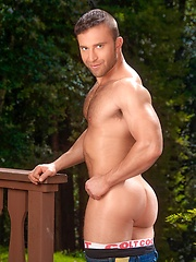 JR Bronson takes off his panties - Gay porn pics at GayStick.com