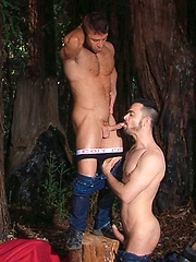 Dolan Wolf and JR Bronson together in nature - Gay porn pics at GayStick.com