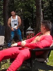 Adam Champ and Trenton Ducati outdoor sex - Gay porn pics at GayStick.com