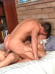 Two hottest gays pairing in the bedroom - Gay porn pics at GayStick.com