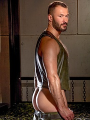 Dark haired man Dolan Wolf posing - Gay porn pics at GayStick.com