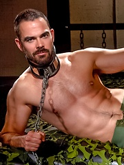 Dolan Wolf in chains - Gay porn pics at GayStick.com