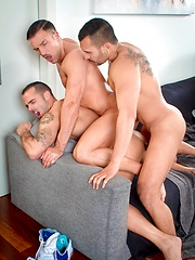 Lucio Saints together with Adrian Toledo, Donato Reyes fucked at home - Gay porn pics at GayStick.com