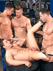 Muscular buddies gone wild - Gay porn pics at GayStick.com