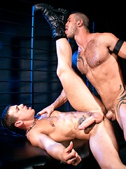 Jesse Santana and Adam Killian dominate over each other - Gay porn pics at GayStick.com