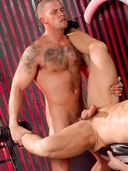 Two tattoed gays Caleb Colton and Mitchell Rock - Gay porn pics at GayStick.com