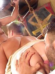 Leo Domenico, Logan Vaughn vs Rogan Richards - Gay porn pics at GayStick.com
