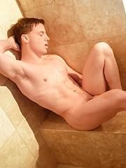Great gay is masturbating under the shower - Gay porn pics at GayStick.com