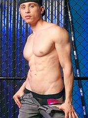 Boy shows his muscular body - Gay porn pics at GayStick.com