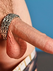 Young  brunette boy Axel Wolf plays with her dildo and sucks himself - Gay porn pics at GayStick.com