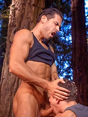 Hot brunette in the forest - Gay porn pics at GayStick.com