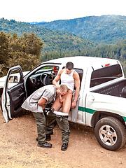 Ass fucking on a car - Gay porn pics at GayStick.com