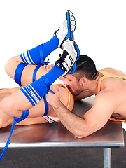 Adam Champ grabs JR hole by huge toy - Gay porn pics at GayStick.com